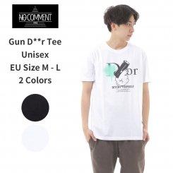 NO COMMENT PARIS ノーコメントパリ ブルーライン 半袖 プリントTシャツ
