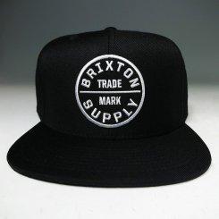Brixton ブリクストンロゴ スナップバック キャップ ブラック