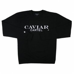 <img class='new_mark_img1' src='https://img.shop-pro.jp/img/new/icons20.gif' style='border:none;display:inline;margin:0px;padding:0px;width:auto;' />CAVIAR CARTEL at SSUR ロゴ クルーネックスウェット ブラック