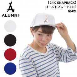 <img class='new_mark_img1' src='https://img.shop-pro.jp/img/new/icons55.gif' style='border:none;display:inline;margin:0px;padding:0px;width:auto;' />Tha Alumni Clothing アルムナイ ロゴ スナップバックキャップ ブラック フラットバイザー