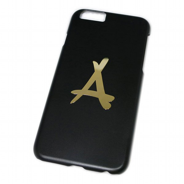 "Tha Alumni Clothing ロゴ アイフォン6 ケース ブラック×ゴールド ""24K iPHONE 6"""