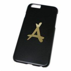 Tha Alumni Clothing ロゴ アイフォン6 ケース ブラック×ゴールド