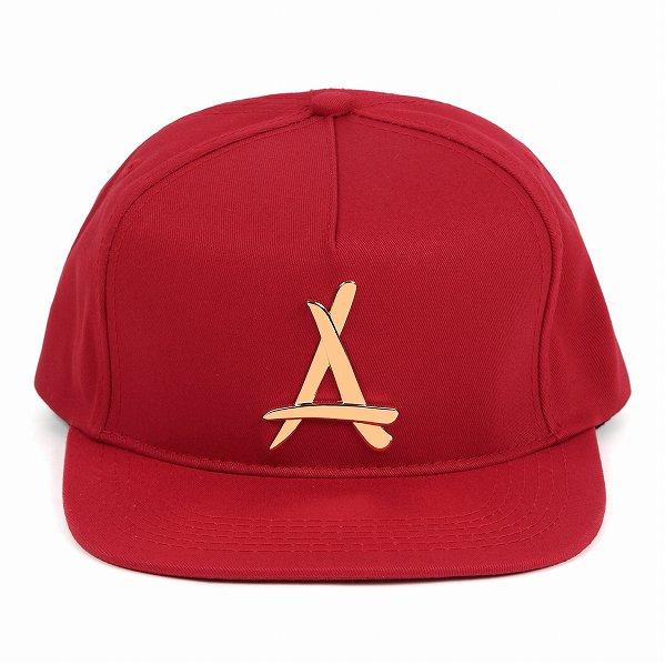 "Tha Alumni Clothing アルムナイ ロゴ スナップバックキャップ レッド ""24K SNAPBACK (RED)"""