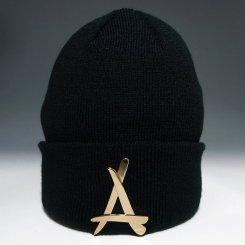 Tha Alumni Clothing アルムナイ ロゴ ニットキャップ ブラック