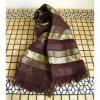 ベジタブルシルクの手織りストール ブラウンゴールド