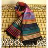 ベジタブルシルクの手織りストール マルチレイグロス