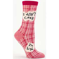 Blue Q ソックス Crew Socks / I don't care I'm high