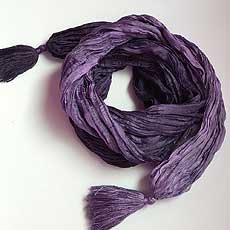 エストニア製シルクスカーフ Tale of Silk バイオレット