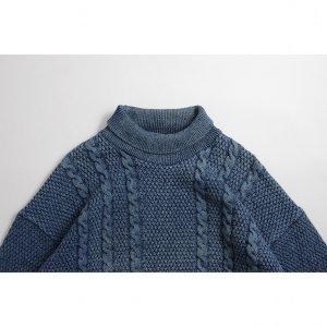[メンズ] 90's ブルーウィリス コットン インディゴケーブルニット [BLUEWILLI'S]