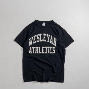 [レディース] 1990's~ ラッセル カレッジプリントTシャツ ブラック