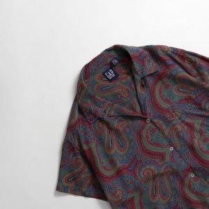[レディース] 1990's オールドGAP ペイズリー柄 オープンカラーシャツ