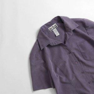 [レディース] 1990's~ オープンカラーシャツ 半袖 パープル