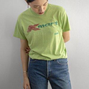 [レディース] 1970s ヴィンテージ K mart ロゴTシャツ ライトグリーン