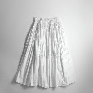 [レディース] 1960s~ ヴィンテージ ボリューム オーバースカート レース 刺繍 ホワイト