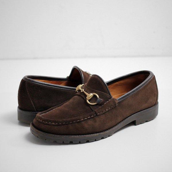 separation shoes 5d519 19330 [GUCCI] グッチ ホースビットローファー ブラウンスウェード メンズ US7D - メンズ&レディース 渋谷古着屋 通販 mericca  Webストア