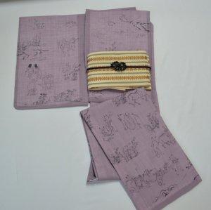 紫 鳥獣戯画 L