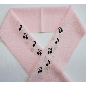 音符 ピンク半襟