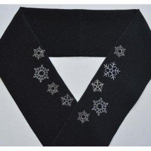 雪の結晶 黒半襟