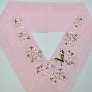 桜と雀 ピンク