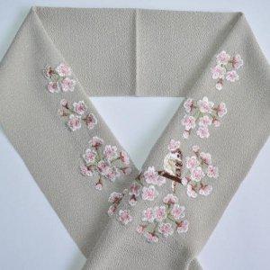 桜と雀 ねずみ色