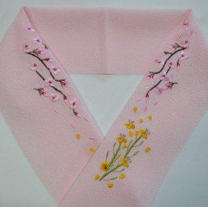 桜と菜の花   ピンク