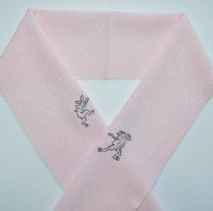 ウサギとカエル(鳥獣戯画) ピンク
