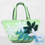 Kenui Quilts ハワイアンキルト トートバッグ ティアレ グリーン