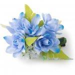 フラダンス髪飾り チューベローズ 髪飾り ブルー