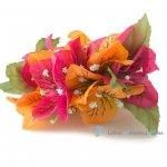 フラダンス髪飾り ブーゲンビリア オレンジ・ローズ