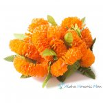 フラダンス 髪飾り イリマ オレンジ