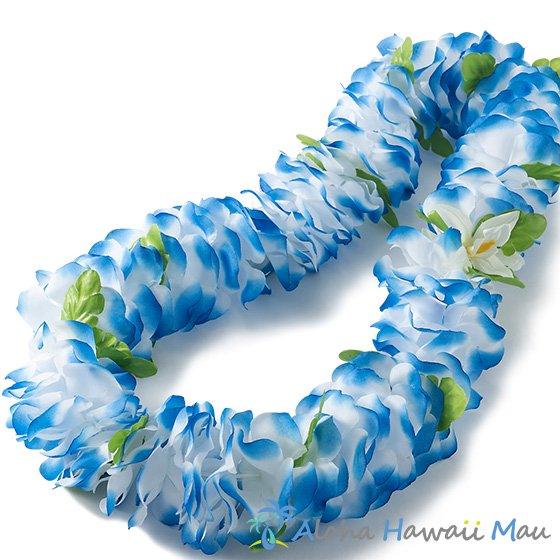 フラワーレイ ブルー/ホワイト