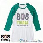 808THINGS  Tシャツ レディース 七分袖 グリーン