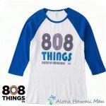 808THINGS  Tシャツ レディース 七分袖 ブルー