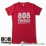 808THINGS  Tシャツ レディース 半袖 レッド