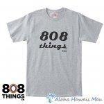 808THINGS  Tシャツ メンズ 半袖 ライトグレー