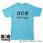 808THINGS  Tシャツ メンズ 半袖 スカイブルー