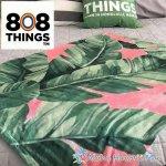 808THINGS  ハーフブランケット バナナリーフ ピンク