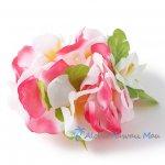 フラダンス フラワーブレスレット ピンク/ホワイト
