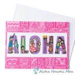グリーティングカード Aloha People アロハ ピープル 封筒付き