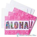 グリーティングカード Aloha People アロハ ピープル 3枚セット 封筒付き