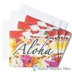 グリーティングカード Aloha Lei アロハ レイ 3枚セット 封筒付き