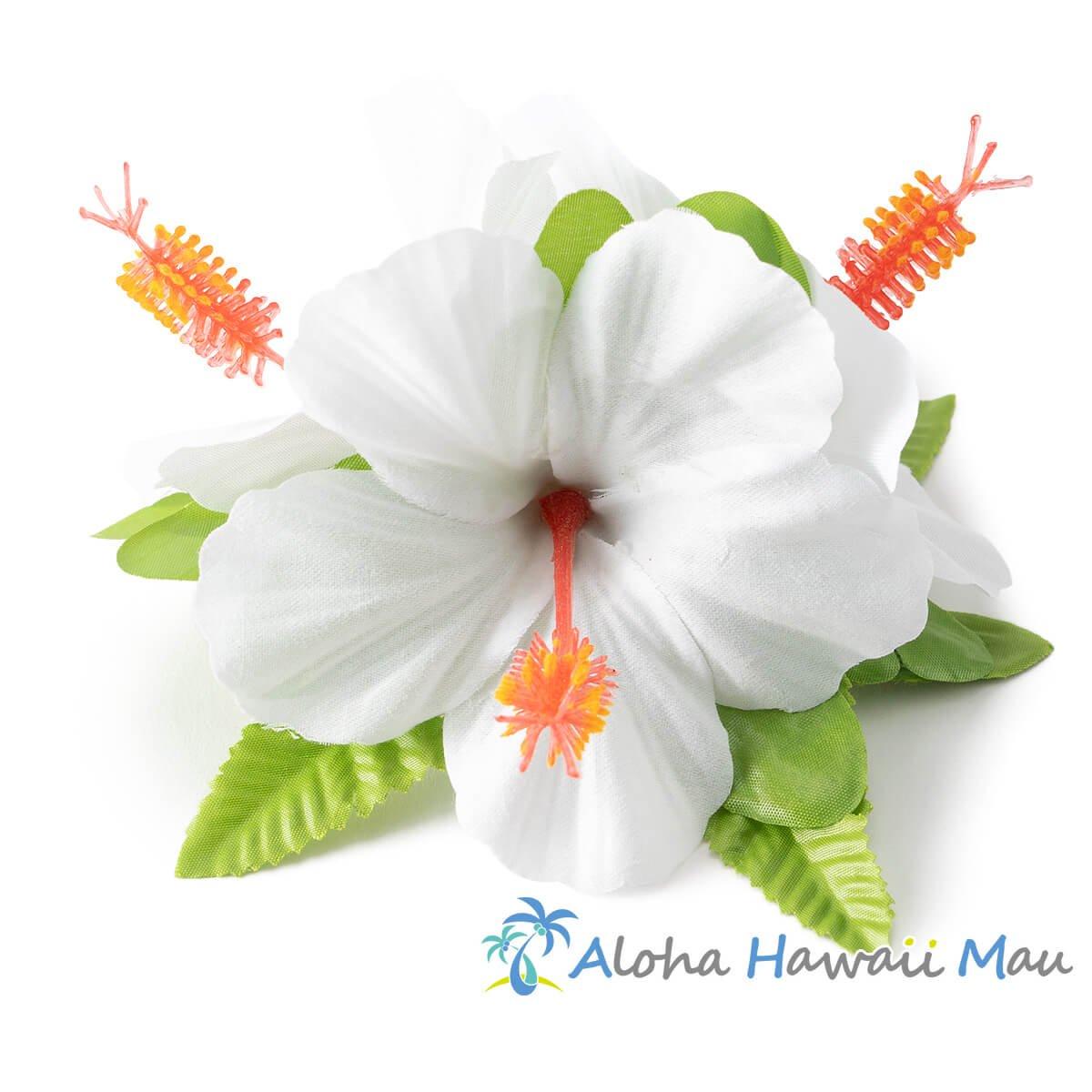 ハイビスカス髪飾り ホワイト