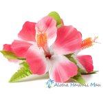 フラダンス 髪飾り ハイビスカス 3P ピンク/ホワイト
