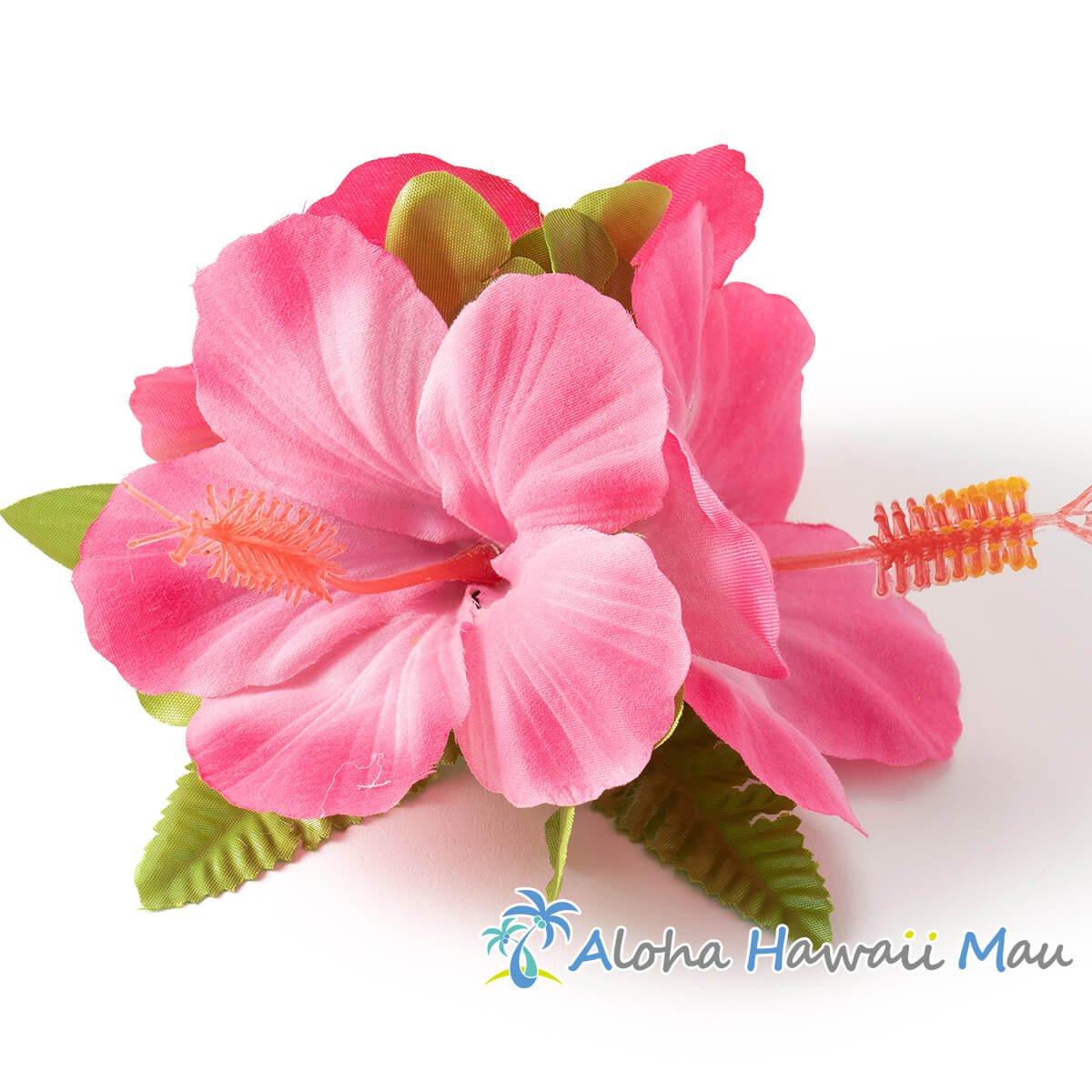 ハイビスカス髪飾り ピンク