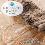 <img class='new_mark_img1' src='https://img.shop-pro.jp/img/new/icons14.gif' style='border:none;display:inline;margin:0px;padding:0px;width:auto;' />【MAUI DIVERS JEWELRY】  0.8mm  Box Chain in 14K Yellow Gold 18インチ(約46cm)