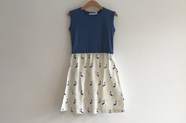 <img class='new_mark_img1' src='//img.shop-pro.jp/img/new/icons14.gif' style='border:none;display:inline;margin:0px;padding:0px;width:auto;' />19ss One We Like  WAIST DRESS SUNBATHING BLUE