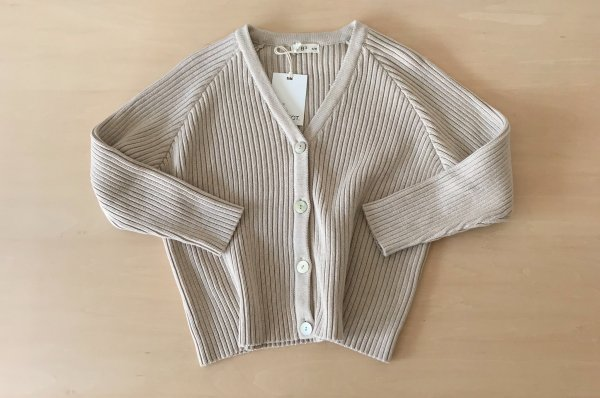 <img class='new_mark_img1' src='//img.shop-pro.jp/img/new/icons14.gif' style='border:none;display:inline;margin:0px;padding:0px;width:auto;' />The Bibio Project RIBBED CARDIGAN /STONE For WOMEN