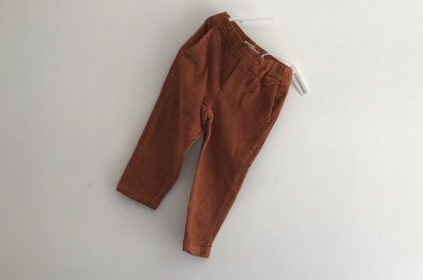 <img class='new_mark_img1' src='//img.shop-pro.jp/img/new/icons14.gif' style='border:none;display:inline;margin:0px;padding:0px;width:auto;' />19AW MINGO TAPARED CORDUROY TROUSER LEATHER BROWN