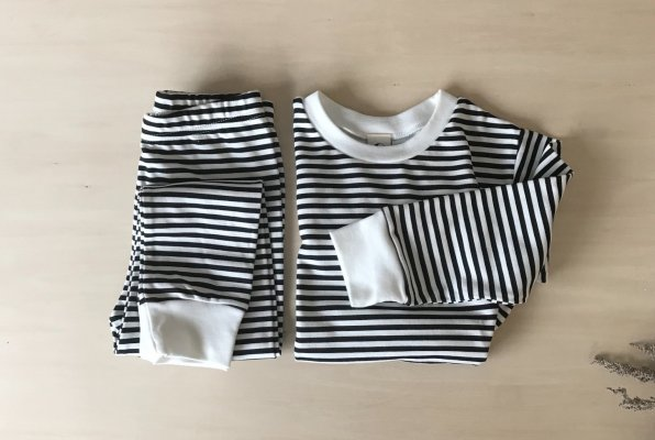 SLEEPY DOE  Kids Classic PJ Set : Every Night Stripe