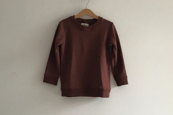 <img class='new_mark_img1' src='//img.shop-pro.jp/img/new/icons14.gif' style='border:none;display:inline;margin:0px;padding:0px;width:auto;' />19AW Sem label  ESSENTIALS CREWNECK- MARRON